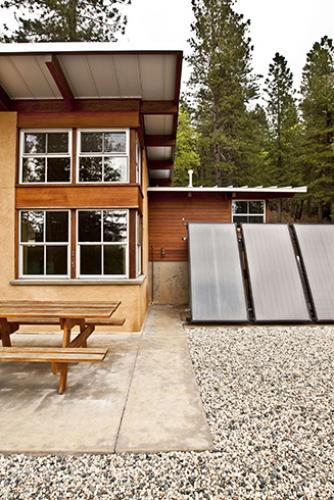 chalk bluff cabin solar hot water