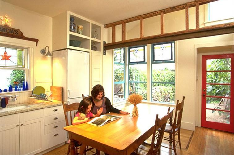 kitchen in use
