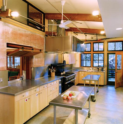 Hidden Villa kitchen