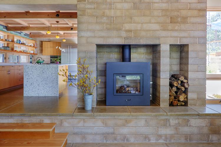 watershed block fireplace