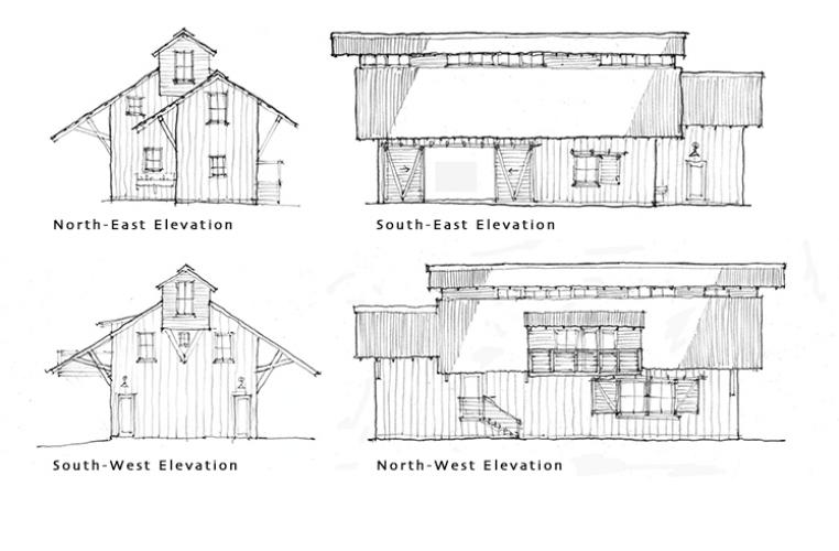vida verde  barn elevations