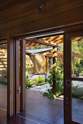 vine hill residence patio