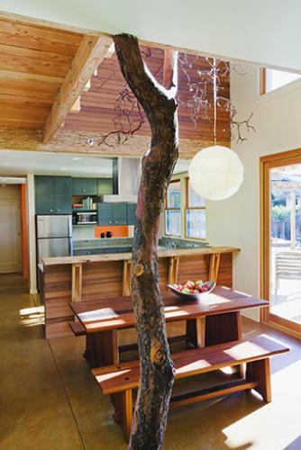 santa cruz straw bale dining room