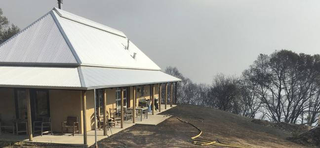 Redwood Valley House after fire